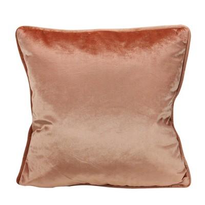"Northlight 17"" Square Solid Plush Indoor Throw Pillow - Peach"