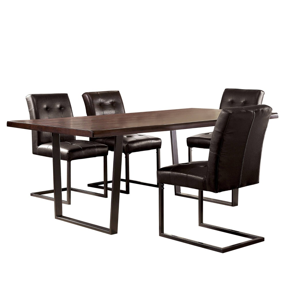 Promos 5pc Telford Dining Set Dark Oak - HOMES: Inside + Out