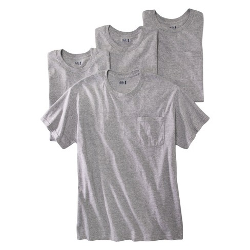 d6cbd932 Fruit Of The Loom® Men's 4Pk Pocket T-Shirt - Gray XL : Target
