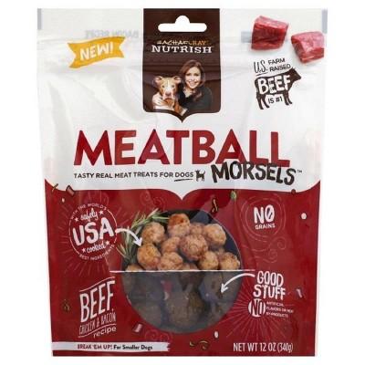 Rachael Ray Nutrish Meatball Morsels Grain Free Dog Treats Beef Chicken & Bacon Recipe 12oz