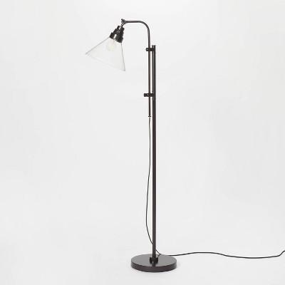 Glass Shepherd Floor Lamp Black (Includes LED Light Bulb) - Threshold™ designed with Studio McGee