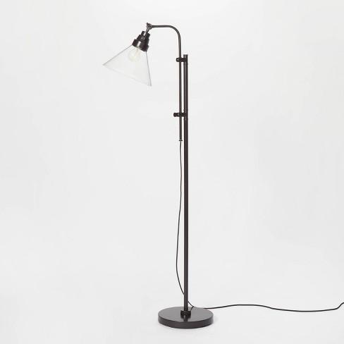 Glass Shepherd Floor Lamp Black (Includes LED Light Bulb) - Threshold™ designed with Studio McGee - image 1 of 4
