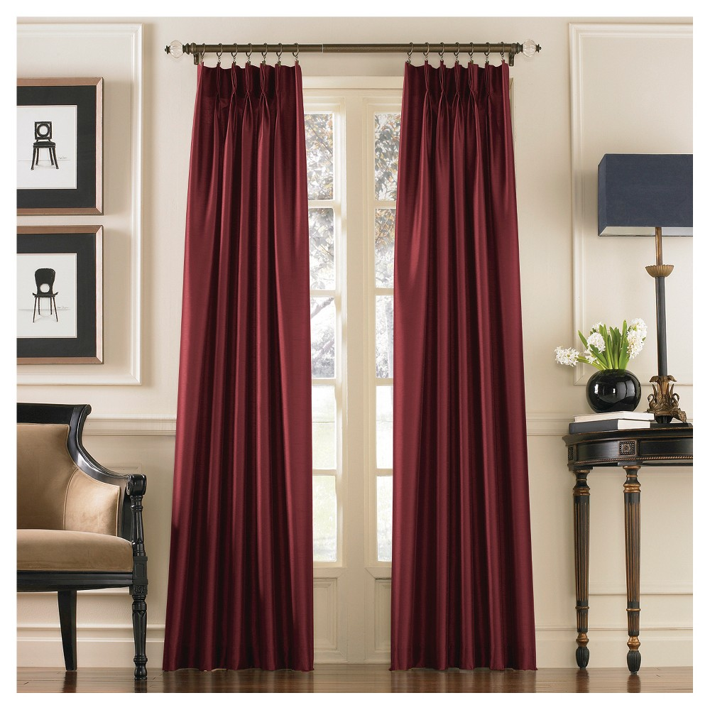 Curtainworks Marquee Lined Curtain Panel, Red