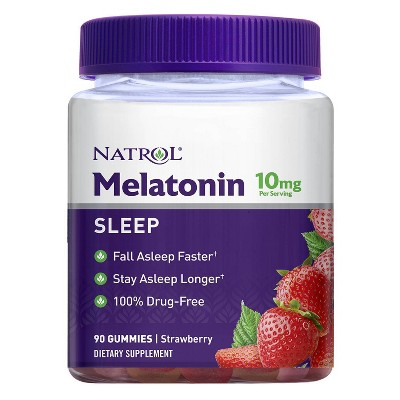 Natrol Melatonin 10mg Sleep Aid Gummies - Strawberry - 90ct