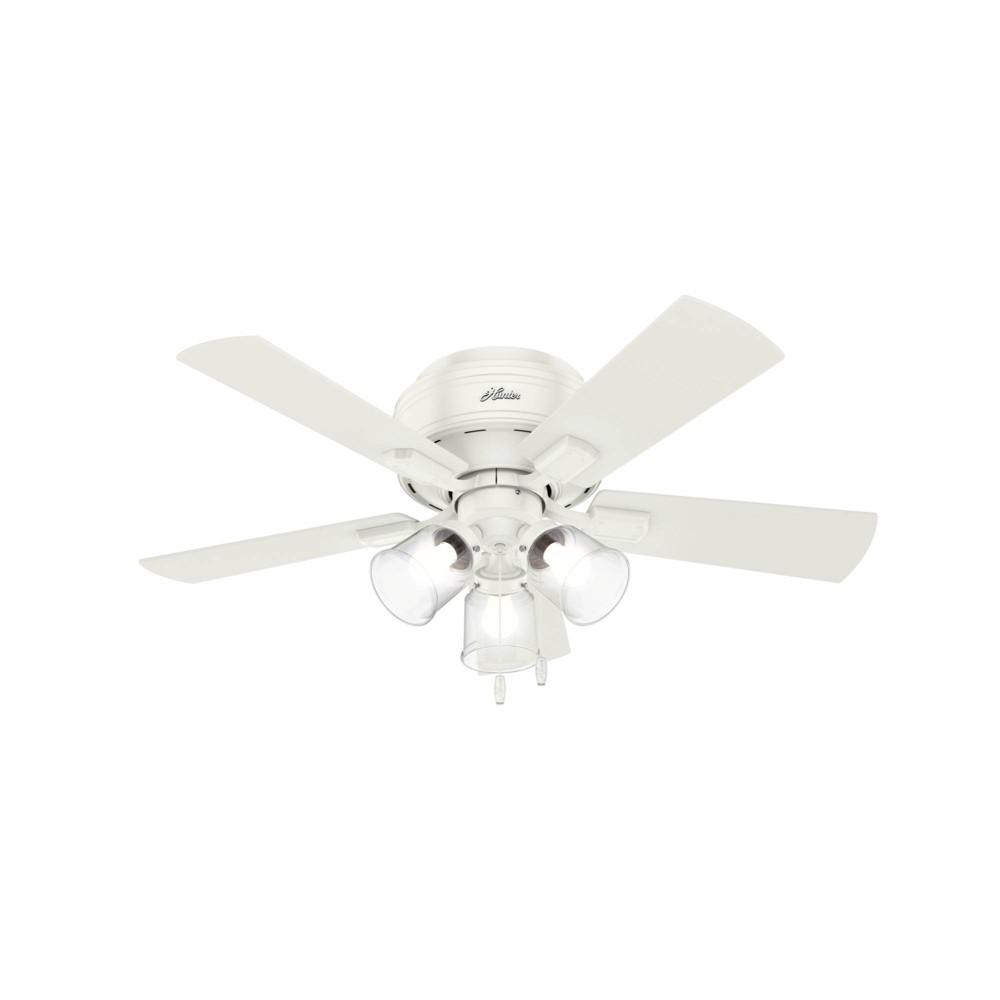 "Image of ""42"""" LED Crestfield Ceiling Fan with Light Fresh White - Hunter Fan"""
