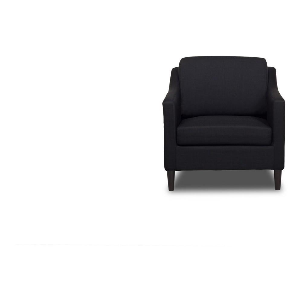 Decker Chair Black - Sofas 2 Go