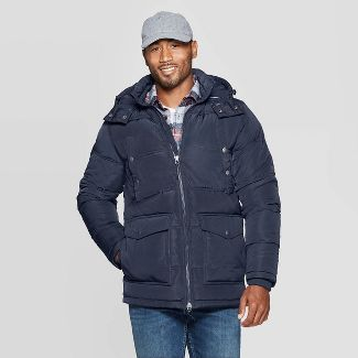 Men's Quilted Puffer Jacket - Goodfellow & Co™ Navy M
