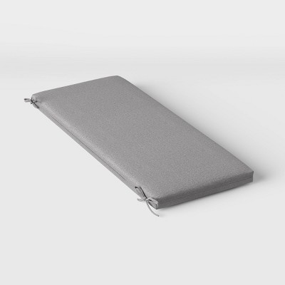 Woven Outdoor Bench Cushion DuraSeason Fabric™ Gray - Threshold™