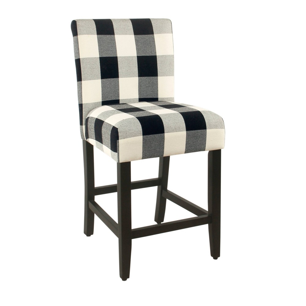 24 Classic Parsons Counterstool Plaid - Black - HomePop was $134.99 now $107.99 (20.0% off)