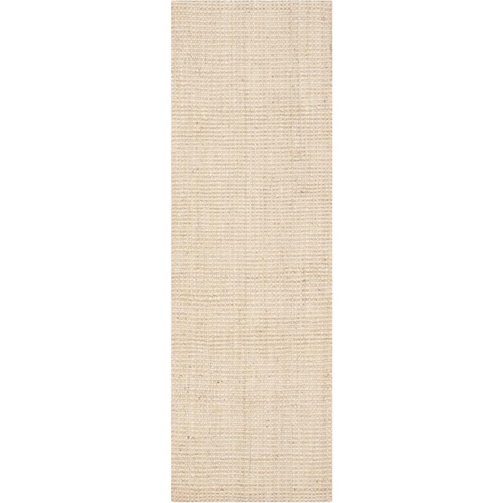 2'3X21' Solid Woven Runner Ivory/Light Gray - Safavieh