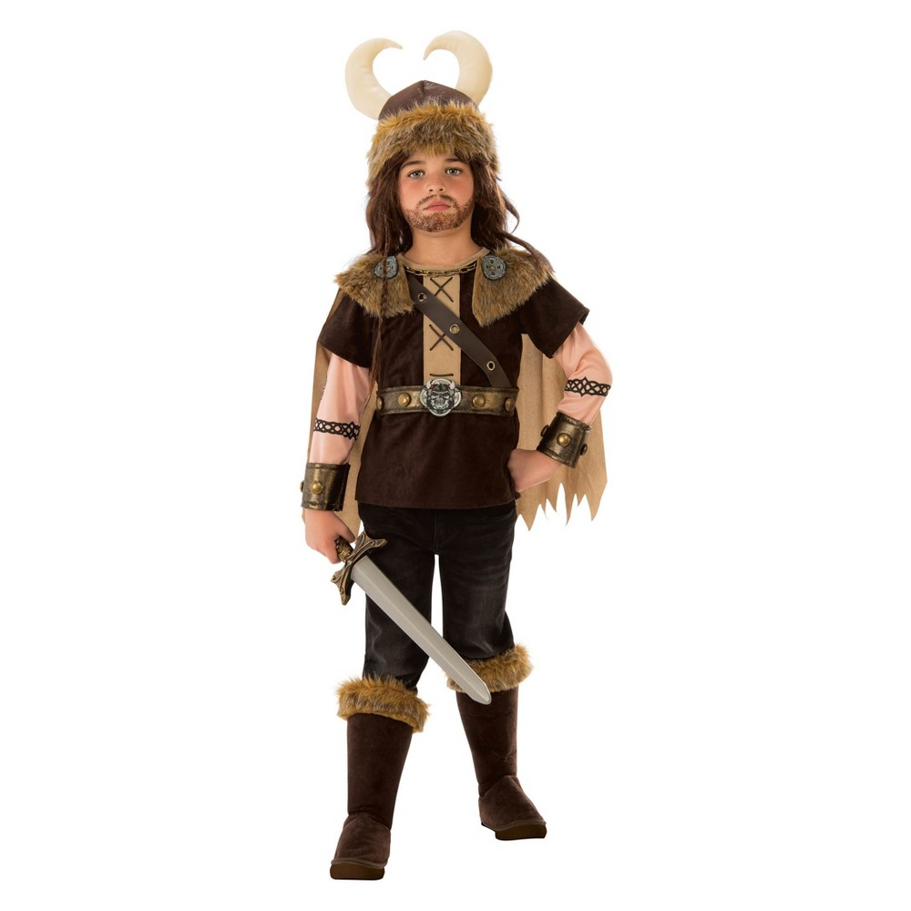 Kids' Viking Halloween Costume S, Boy's, Multicolored