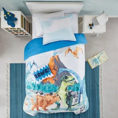 Twin Conner Dinosaur Printed Comforter Set Blue