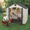 Outdoor Storage Shed 8' x 7.5' - Desert Sand - Lifetime - image 3 of 4