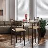 3pc Palladium Bistro Set Bronze - Home Source - image 2 of 4