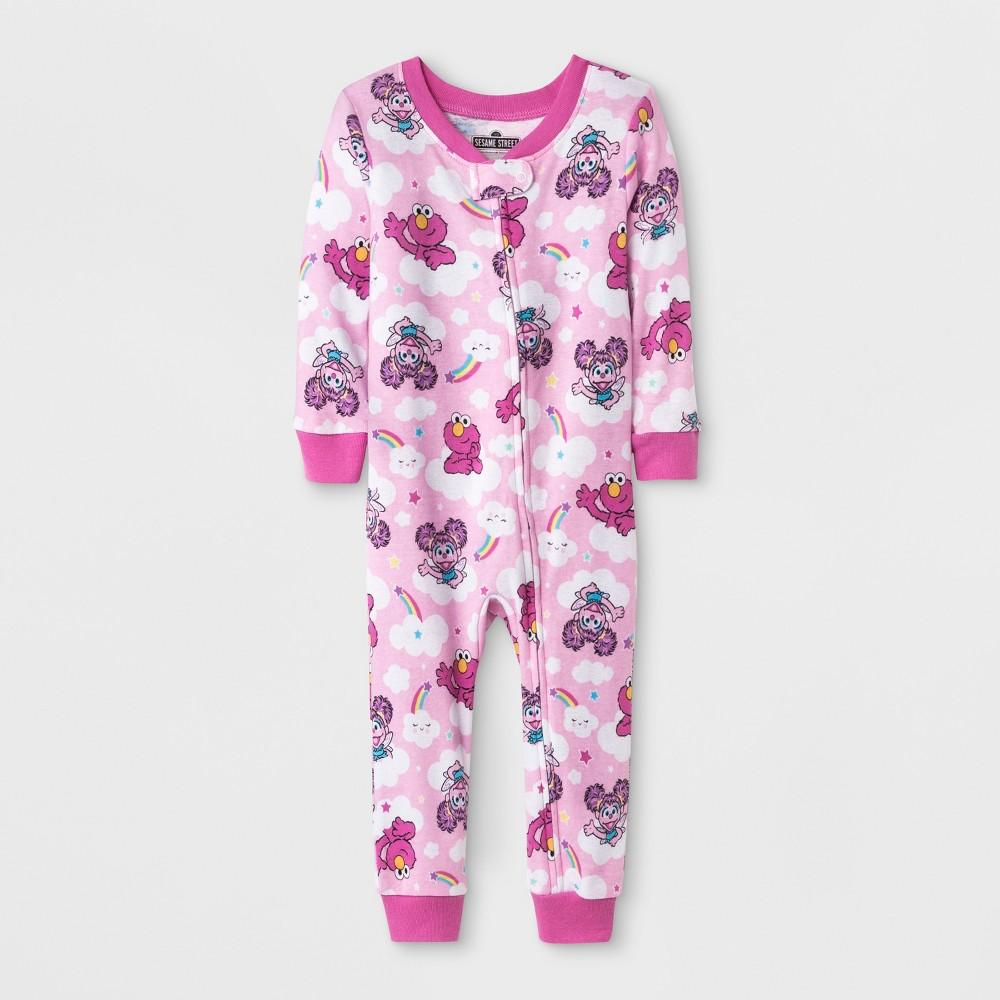 Image of Baby Girls' Sesame Street Blanket Sleeper - Pink 12M