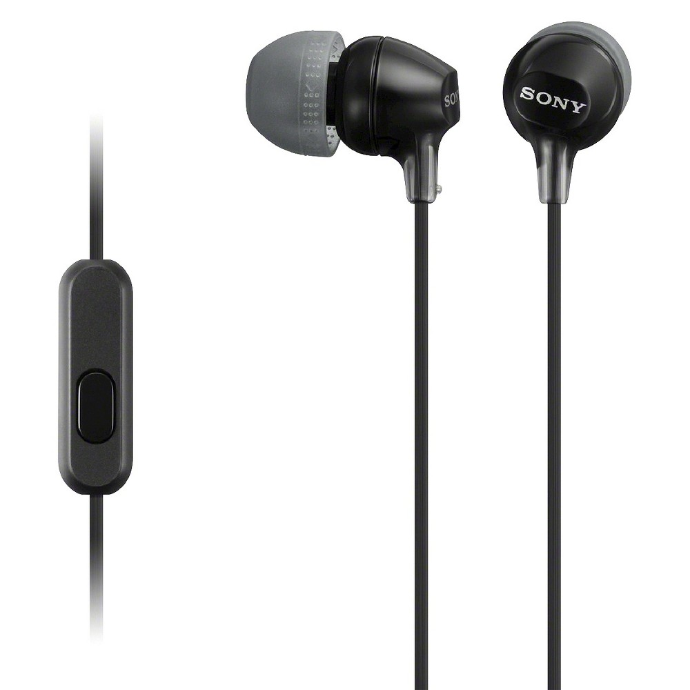 Sony Fashionable Headset for Smartphones - Black Scintillating sound that adds an in-line microphone and volume remote to complement your Smartphone experience. Three sizes of hybrid silicone earbuds ensure a proper fit to maximize comfort and sound isolation. Works with most Android OS smartphones, and iPhone for call handling, volume management and music play/pause control. Color: Black. Age Group: Adult.