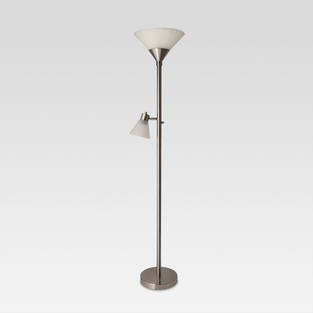 Image of Mother Daughter Floor Lamp Brushed Nickel Includes Energy Efficient Light Bulb - Threshold