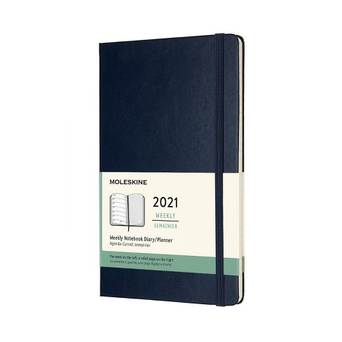 2021 Weekly Planner 12 Month Blue - Moleskine - image 1 of 4