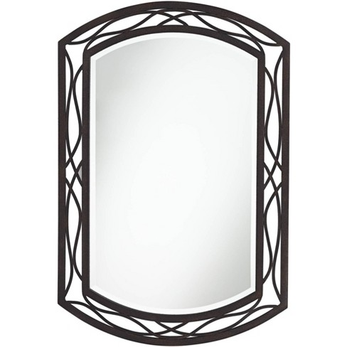 """Franklin Iron Works Woven Bronze 24"""" x 35 1/2"""" Metal Wall Mirror - image 1 of 4"""