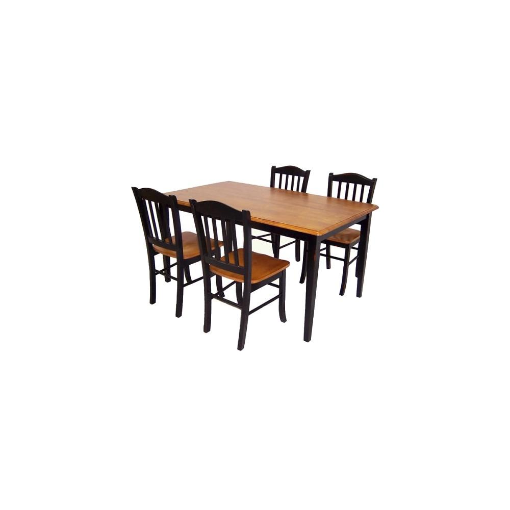 5 Piece Shaker Dining Set Wood/Black/Oak - Boraam Industries