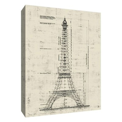 "11"" x 14"" Eiffel Tower Architecture Decorative Wall Art - PTM Images"