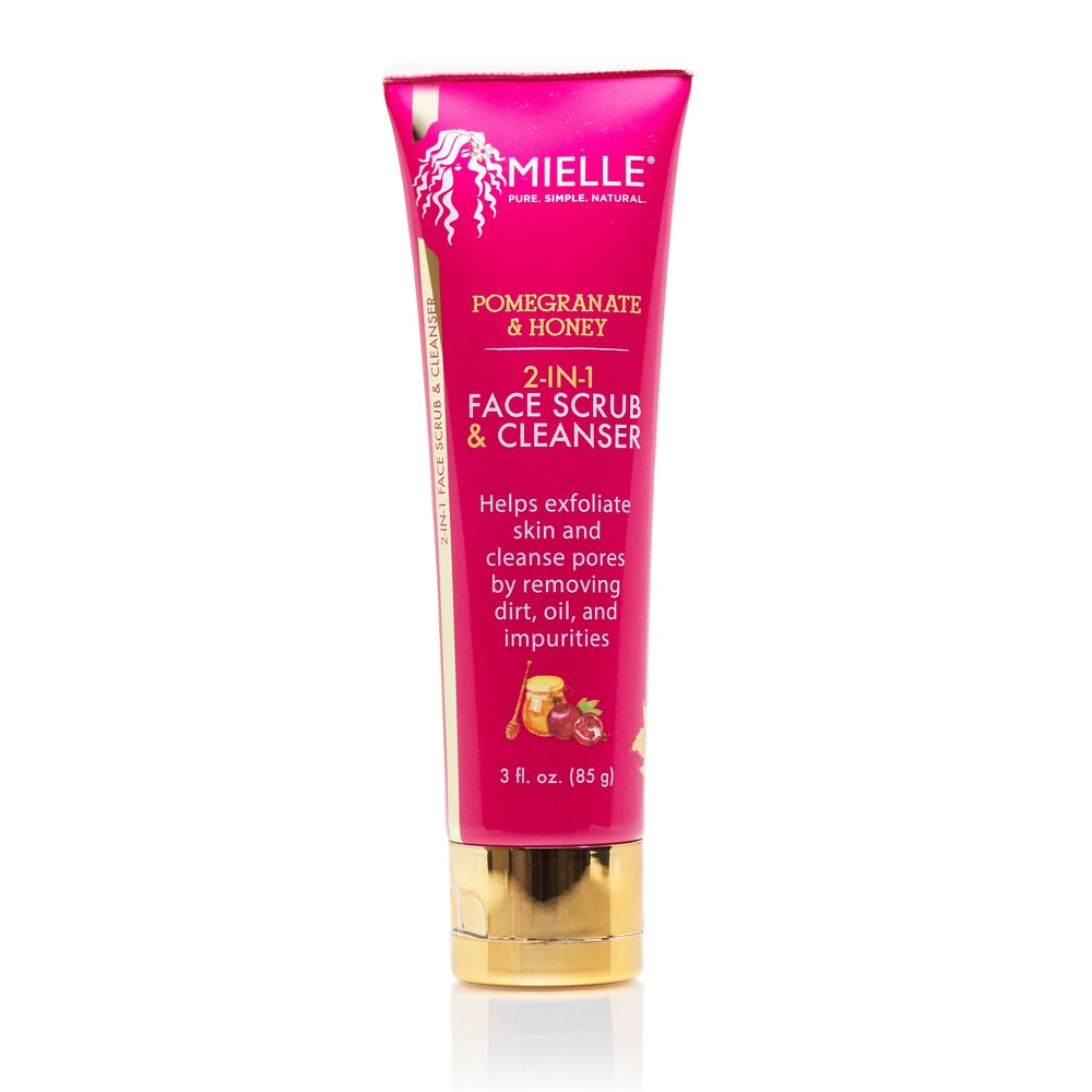 Image of Mielle Organics 2 in 1 Our Pomegranate Honey Face Scrub And Cleanser - 3oz