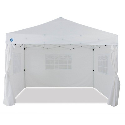 Z-Shade Venture 12'x10' Lawn Garden & Event Outdoor Pop Up Canopy Tent, White