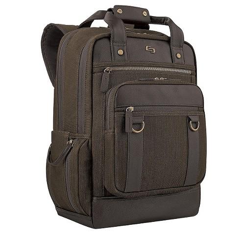"""Solo 17"""" Bradford Backpack - Olive Denim - image 1 of 4"""