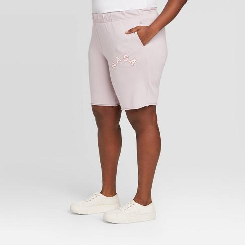 Women's NASA Plus Size Bermuda- Length Lounge Shorts (Juniors') - Rose - image 1 of 2