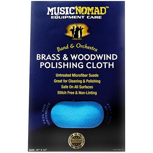 Music Nomad Brass & Woodwind Untreated Microfiber Polishing Cloth 12 x 12 in. - image 1 of 1