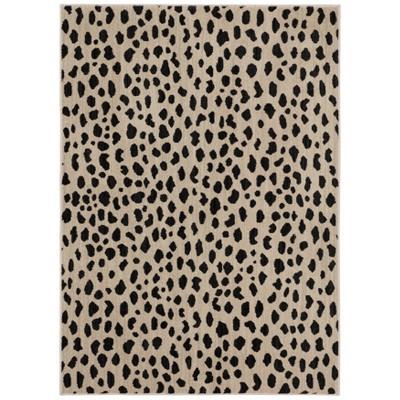 5'X7' Leopard Spot Woven Area Rug Black/White - Opalhouse™
