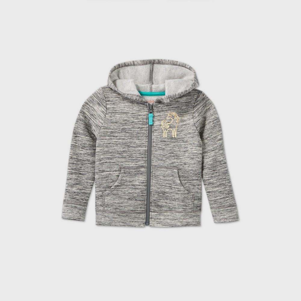 Promos Toddler Girls' Printed Fleece Zip-Up Sweatshirt - Cat & Jack™