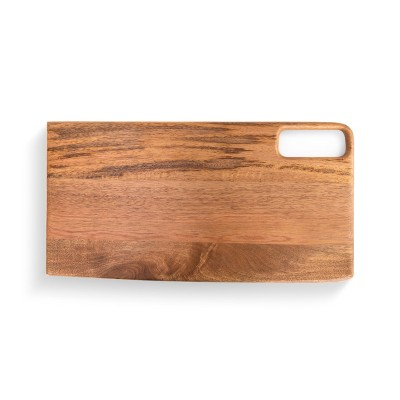 DEMDACO Wood Serving Board with Rectangle Handle brown
