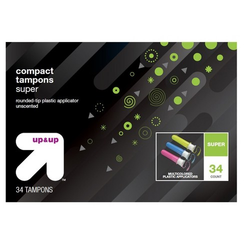 Compact Tampons - Super - Plastic - 34ct - Up&Up™ - image 1 of 1