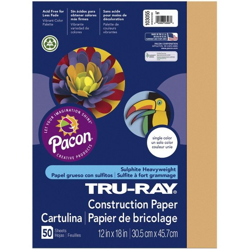 Tru-Ray Sulphite Construction Paper, 12 x 18 Inches, Tan, 50 Sheets - image 1 of 1