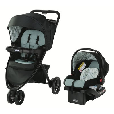 Graco Pace Travel System with SnugRide Infant Car Seat - Birch