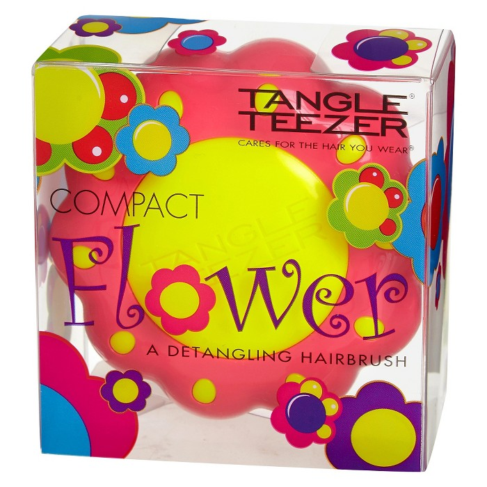Tangle Teezer Compact Flower Detangling Hair Brush Pink & Yellow - image 1 of 5