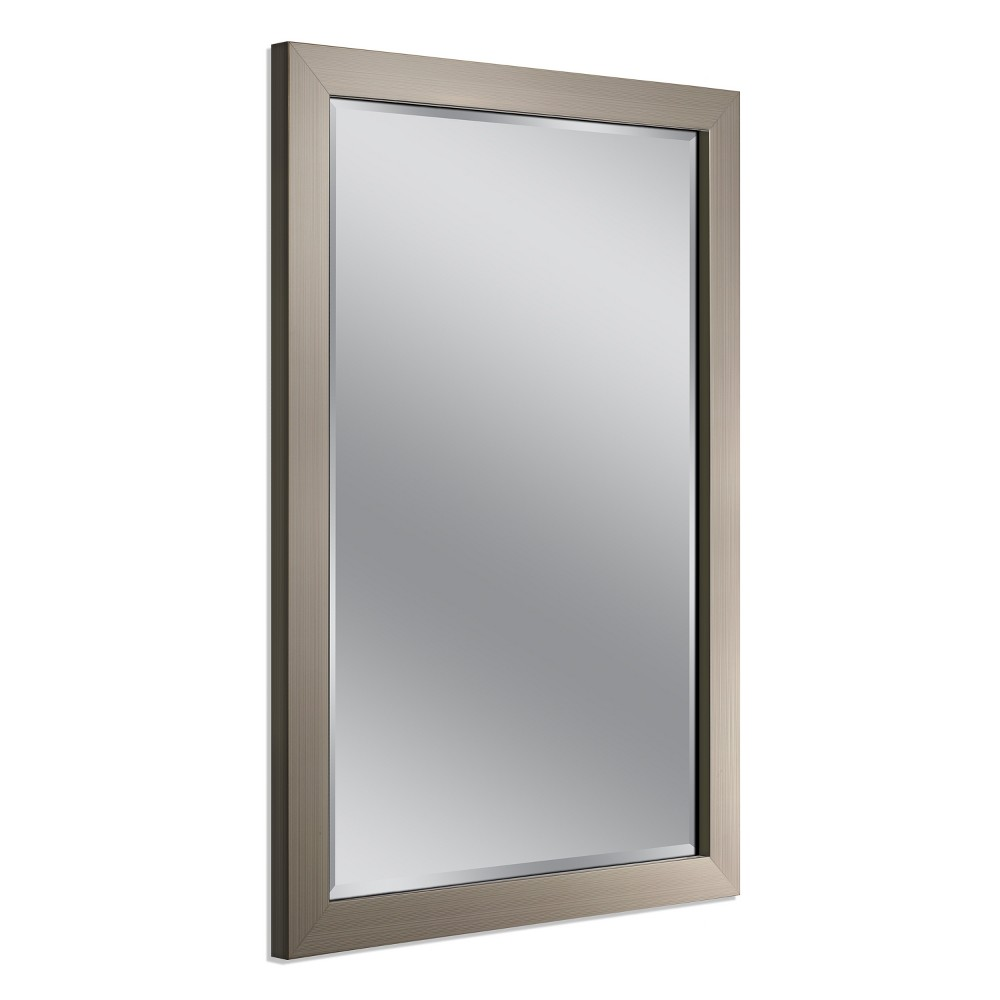 "Image of ""Head West 28""""x40"""" Modern Mirror Brush Nickel, Brushed Nickel"""