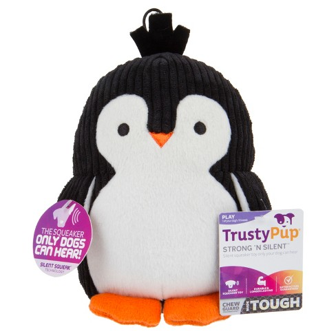 Trustypup Penguin With Silent Squeak Dog Toy Black Target