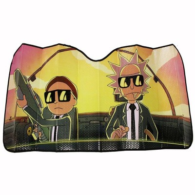 Just Funky Rick and Morty Run the Jewels Accordion Auto Sunshade | Rick And Morty Accessory