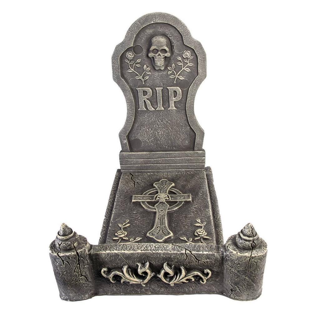 Image of 3pc Deluxe Foam Tombstone Bed Decorative Halloween Scene Prop
