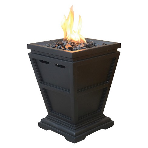 "Uniflame Small 15"" LP Gas Fire Column with Black Fire Glass - image 1 of 1"