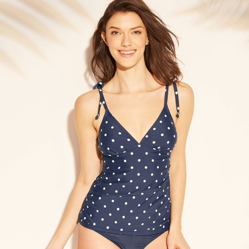 72e26d4525 Women's Tie Shoulder Tankini Top - Kona Sol™ Navy : Target