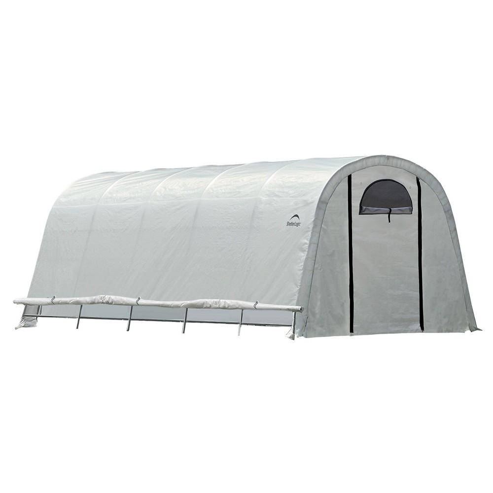 12' X 20' X 8' Growit Heavy Duty Walk - Thru Greenhouse Round Style - Translucent - Shelterlogic, Clear