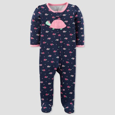 Baby Girls' Turtle Sleep N' Play - Just One You® made by carter's Navy/Pink Newborn