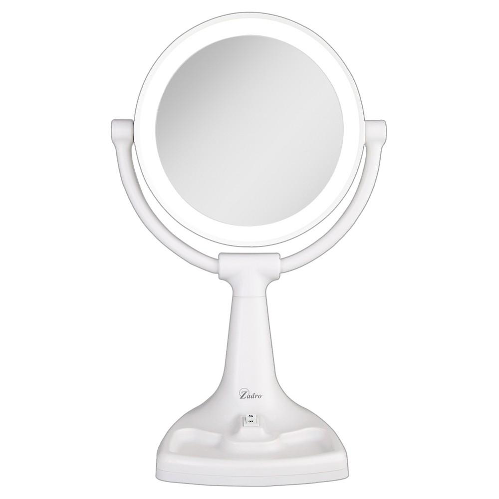 Image of Zadro Fluorescent Surround Light Max Bright Vanity Mirror 10X/1X, White