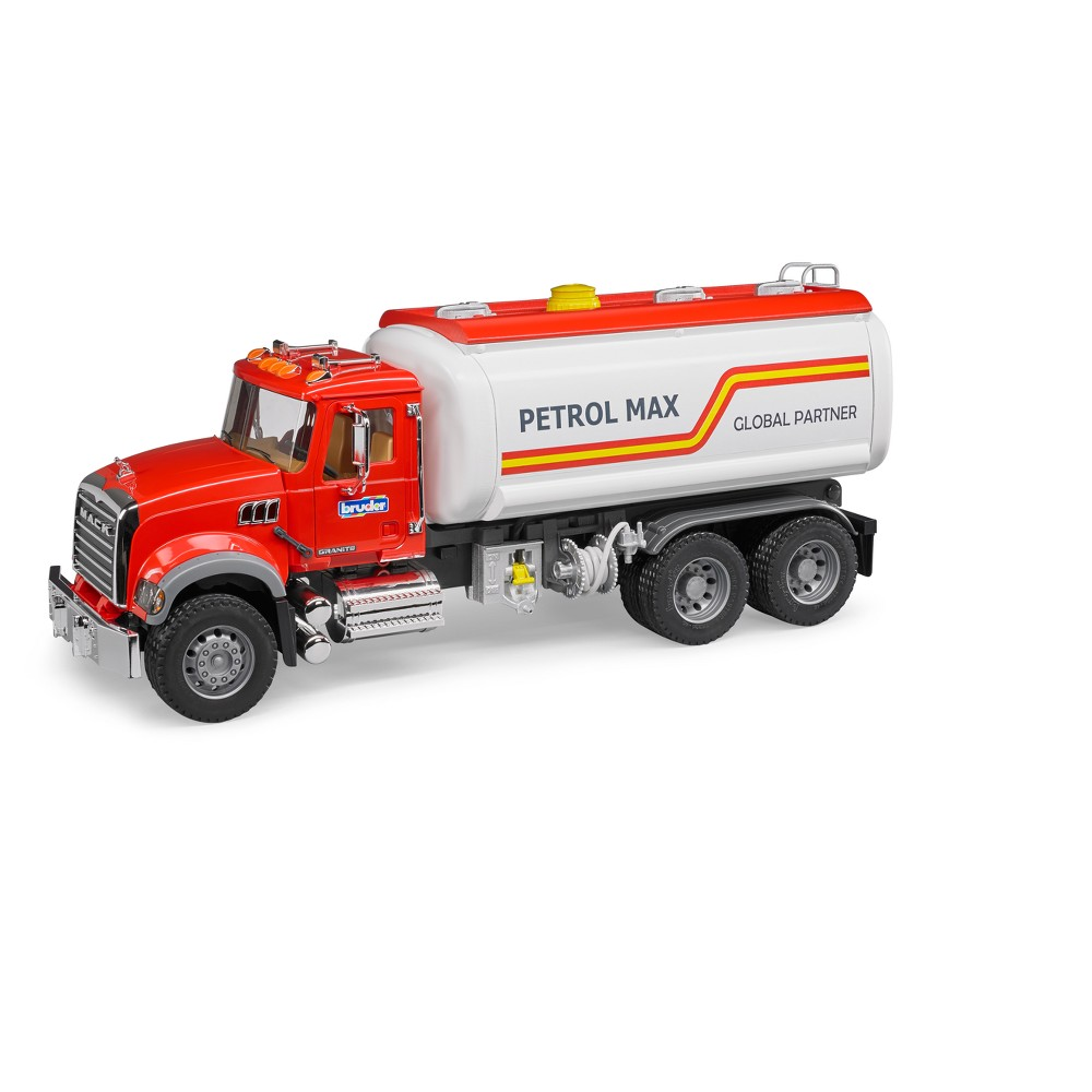 Bruder Toys Mack Granite Tank Truck - 1/16 Scale Realistic, Functional Toy Tanker Vehicle