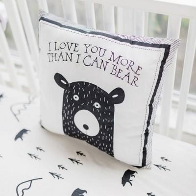 Throw Pillow My Baby Sam Black White