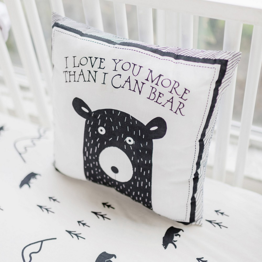 Image of Throw Pillow My Baby Sam Black White