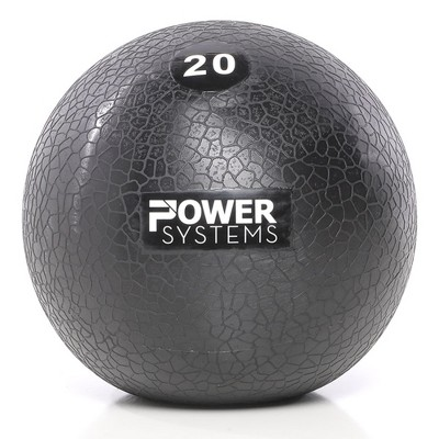 Power Systems MEGA Slam Textured Rubber 10 Inch Round Exercise Ball Prime Fitness Training Weight, 20 Pounds, Gray